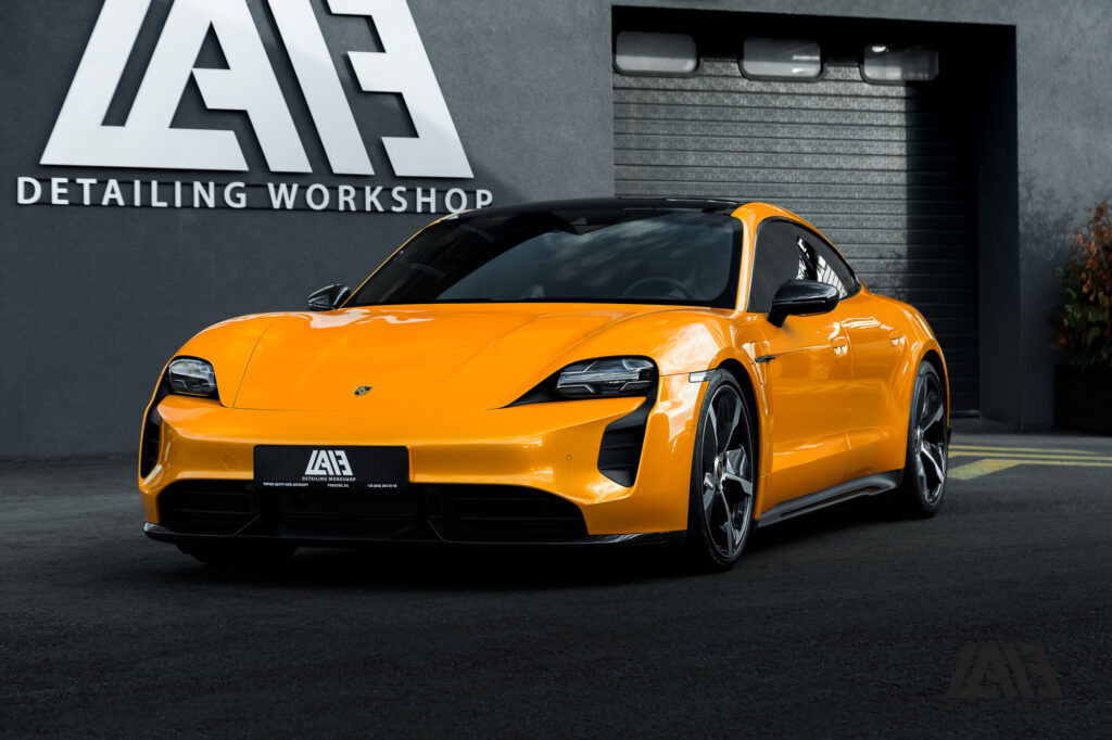Porsche Taycan Inozetek Yellow