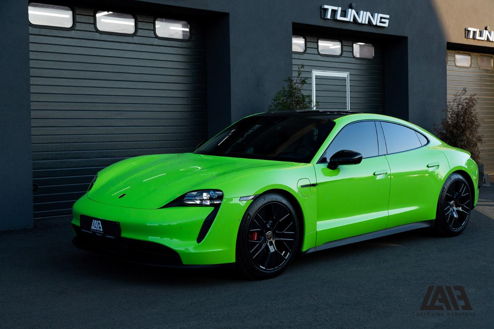 Porsche Taycan 4s INOZETEK Acid Green